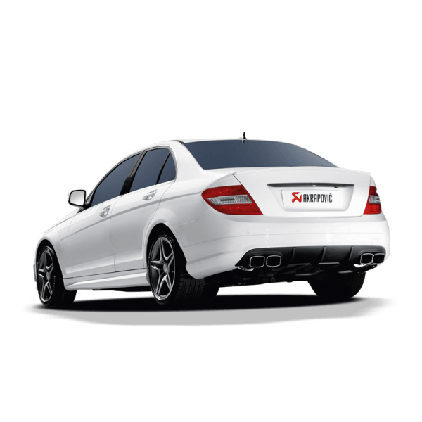 akrapovic slip on line titan auspuff mercedes benz c63 amg. Black Bedroom Furniture Sets. Home Design Ideas