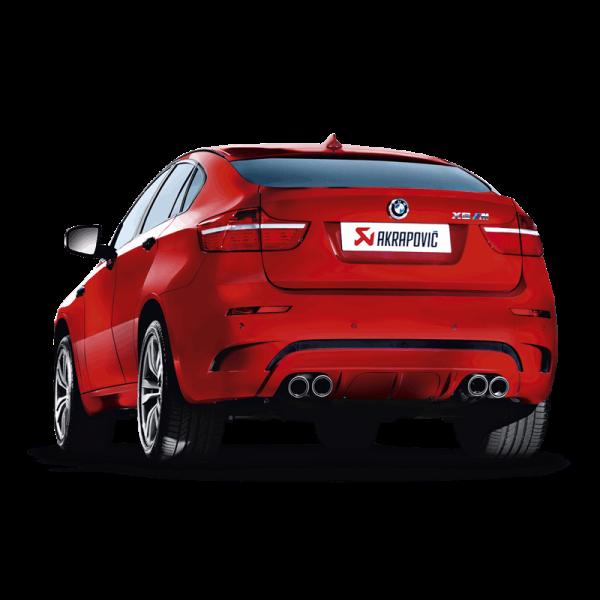 AKRAPOVIC EVOLUTION LINE TITAN AUSPUFF BMW X6M E71