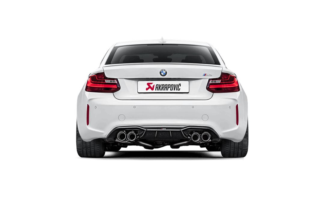 bmw m2 akrapovic evolution line auspuff lifeonwheels shop. Black Bedroom Furniture Sets. Home Design Ideas
